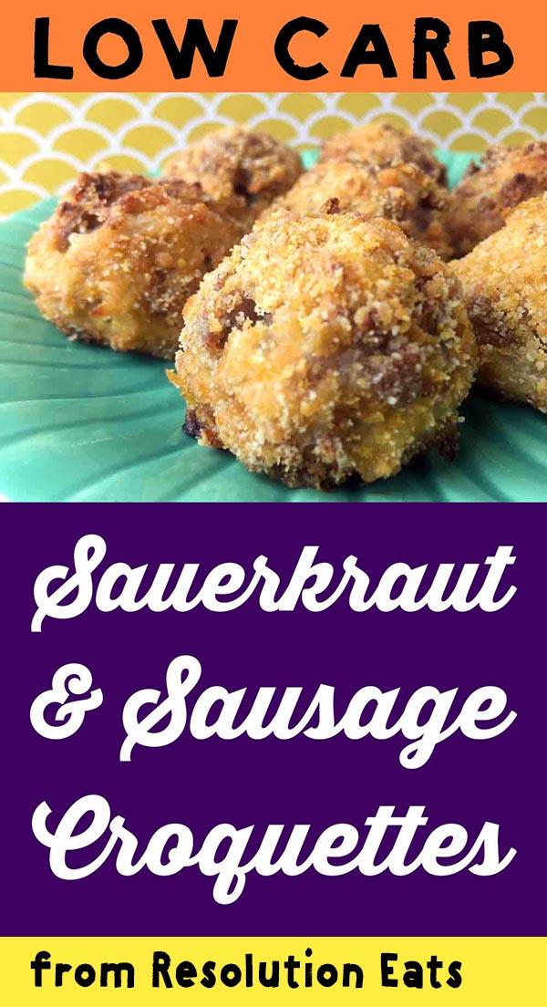 Low Carb Keto Sauerkraut and Sausage Balls Recipe