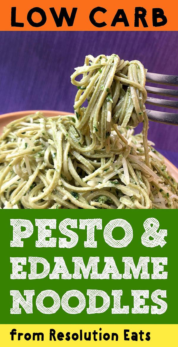 Low Carb Edamame Noodles with Parsley Pesto Recipe
