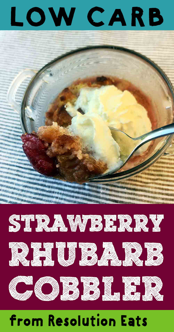Low Carb Keto Strawberry Rhubarb Cobbler Recipe