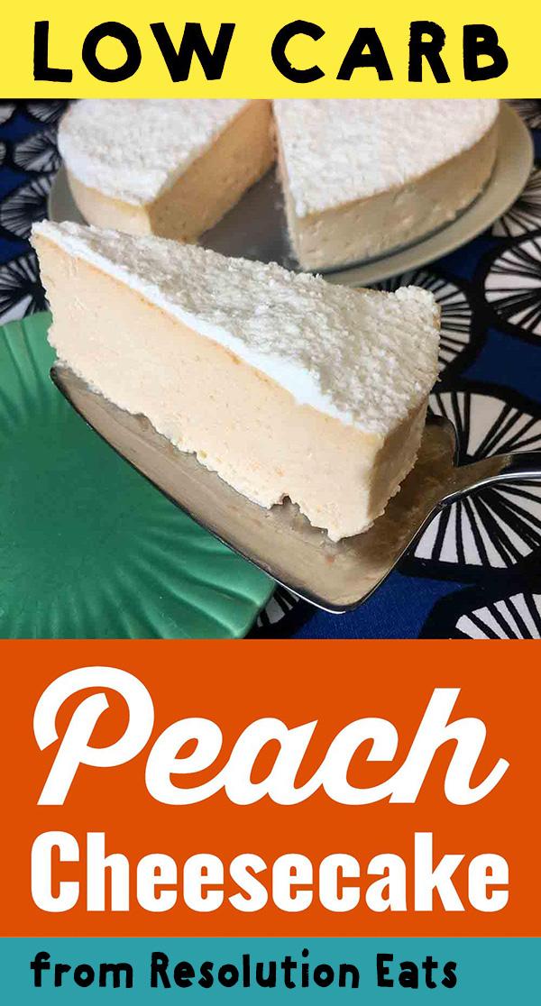 Low Carb Keto Peach NY Style Cheesecake Recipe