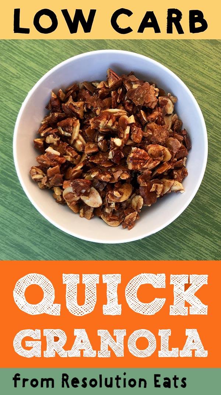 Low Carb Keto Quick 10 Minute Granola Recipe