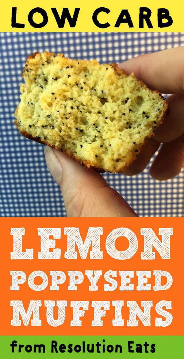 Low Carb Keto Lemon Poppyseed Muffin Recipe
