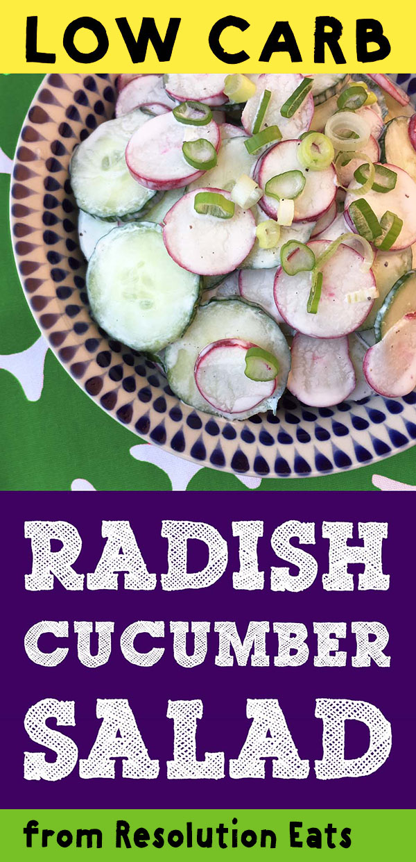 Low Carb Keto Paleo Radish Salad Recipe