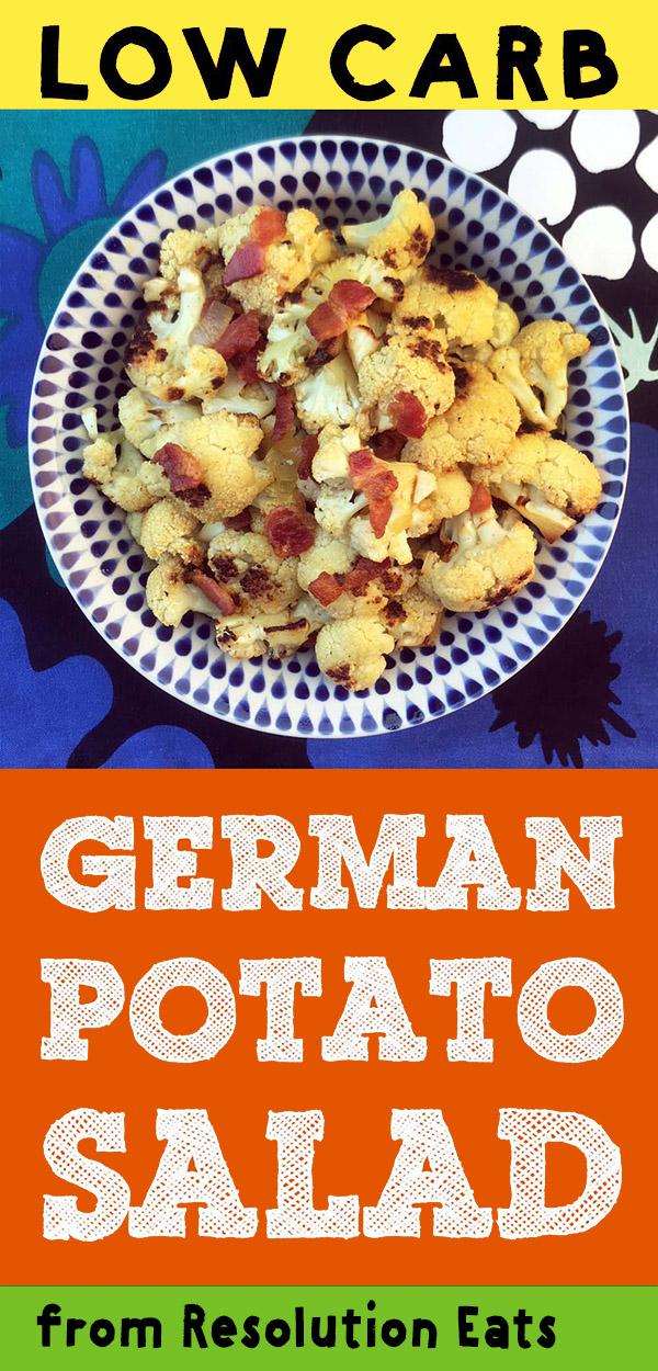 Low Carb Keto German Mock Potato Salad Recipe