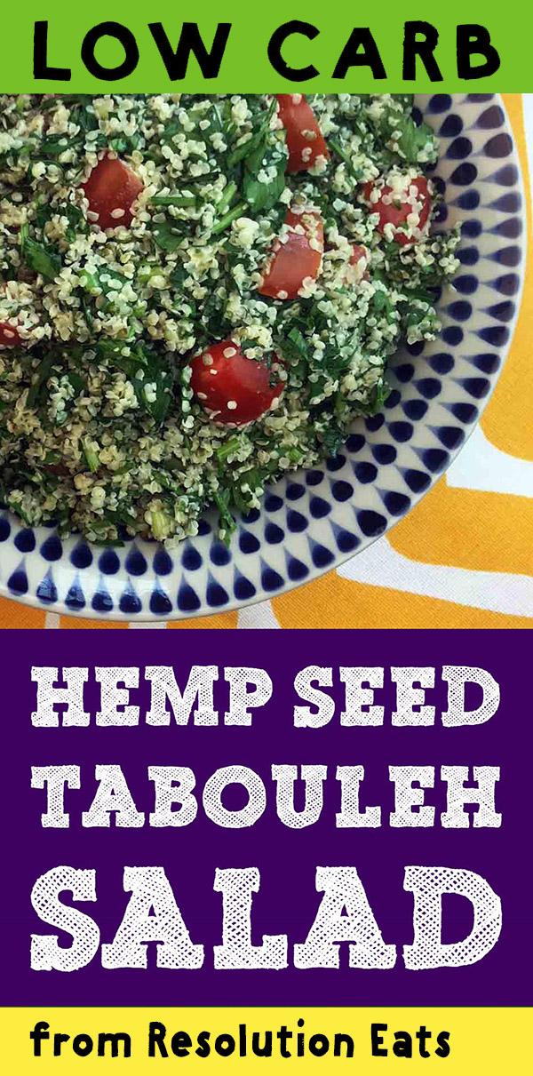 Low Carb Keto Paleo Whole30 Hemp Seed Tabouleh Recipe