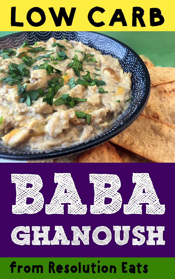 Low carb Baba Ghanoosh with Pita Chips Recipe