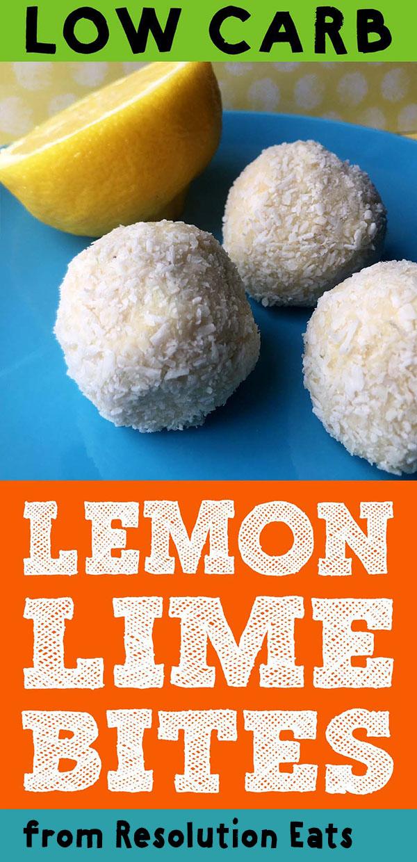 Low Carb Keto Lemon Lime Bites Recipe