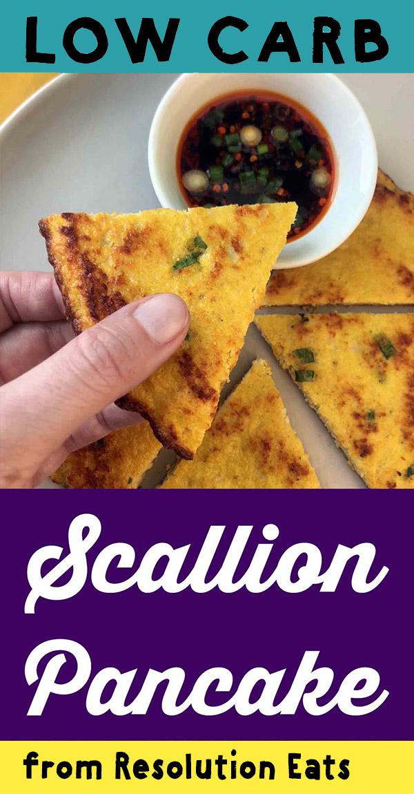 Low Carb Keto Paleo Scallion Pancake Recipe
