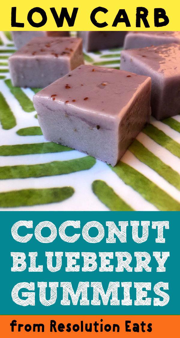 Low Carb Keto Coconut Blueberry Gummies Recipe