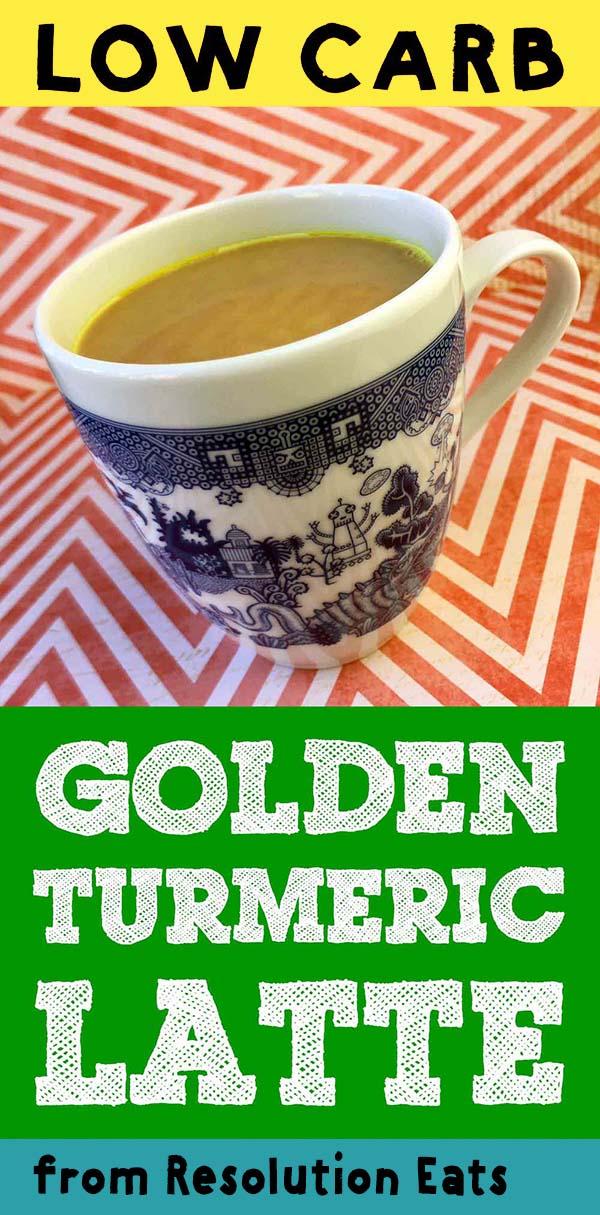 Low Carb Keto Golden Turmeric Latte Recipe