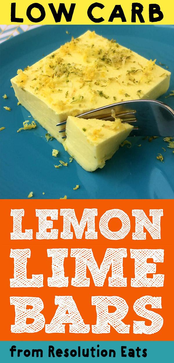 Low Carb Keto Lemon Lime Bars Recipe