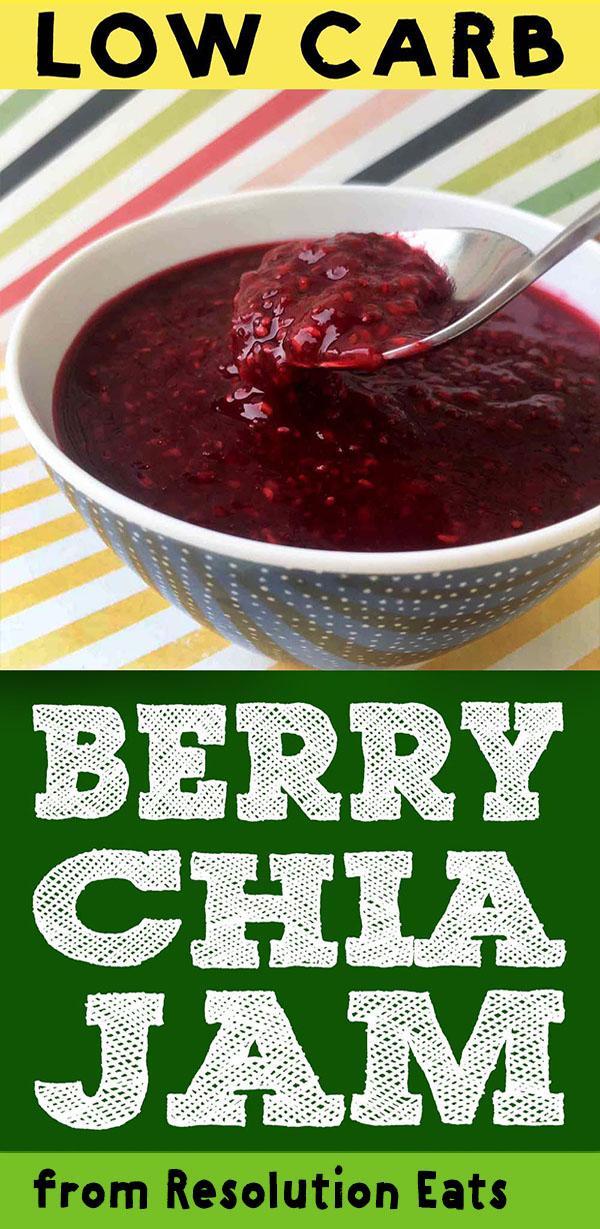 Low Carb Keto Berry Chia Jam Recipe