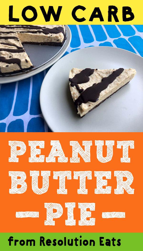 Low Carb Keto Chocolate Peanut Butter Pie Recipe
