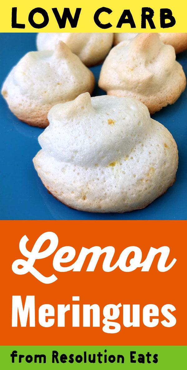 Low Carb Keto Lemon Meringue Cookies Recipe