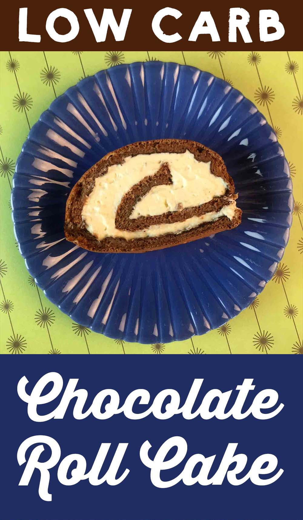 Low Carb Keto Chocolate Roll Cake Recipe