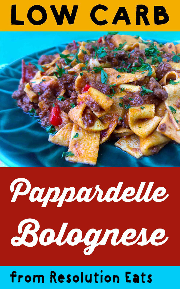 Low Carb Keto Pappardelle Bolognese Recipe