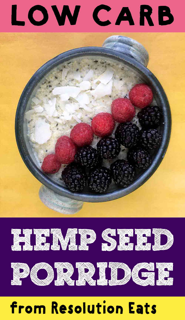 Low Carb Keto Hemp Seed Porridge Recipe