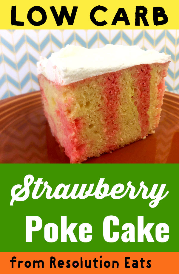 Low Carb Keto Strawberry Poke Cake Recipe