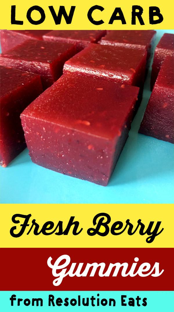 Low Carb Keto Fresh Berry Gummies Recipe