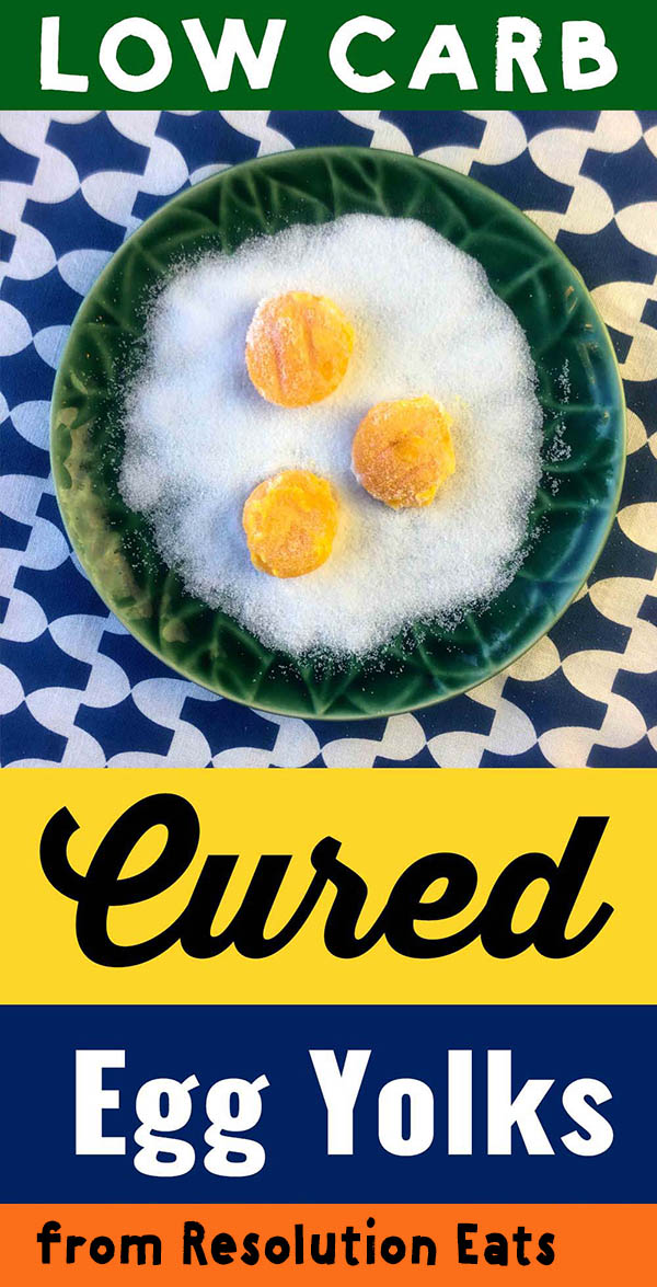 Low Carb Keto Paleo Whole30 Cured Egg Yolks Recipe