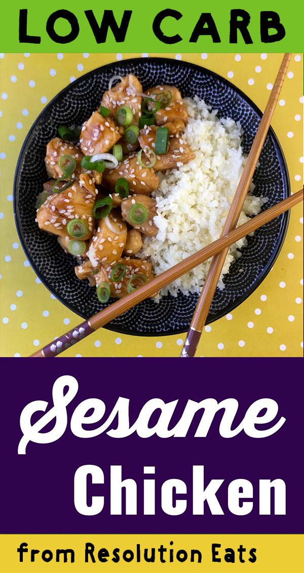 Low Carb Keto Sesame Chicken Recipe