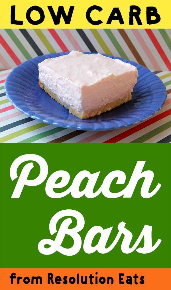 Low Carb Peach Cheesecake Bar Recipe