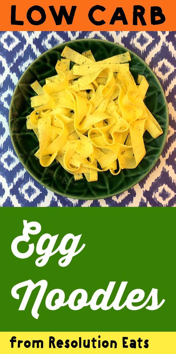 Low Carb Egg Noodle Recipe