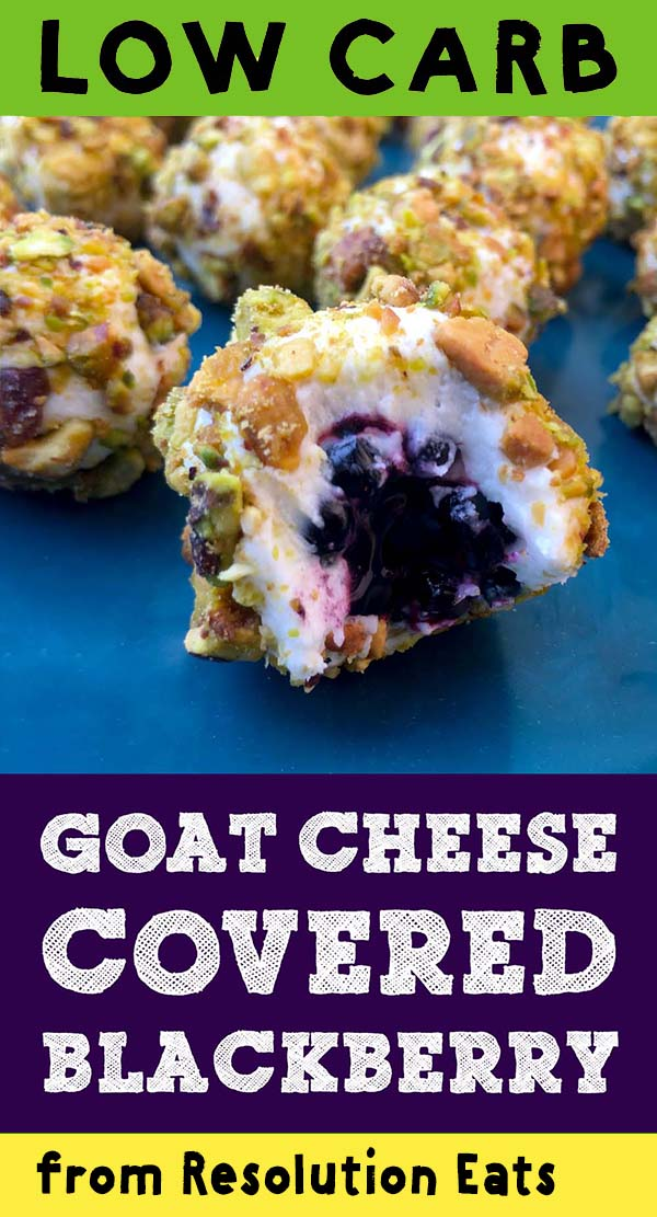 Low Carb Keto Paleo Goat Cheese Blackberry Recipe