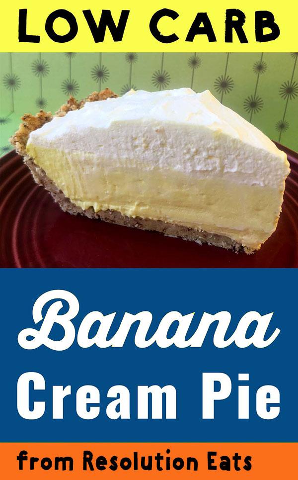 Low Carb Keto Banana Cream Pie Recipe
