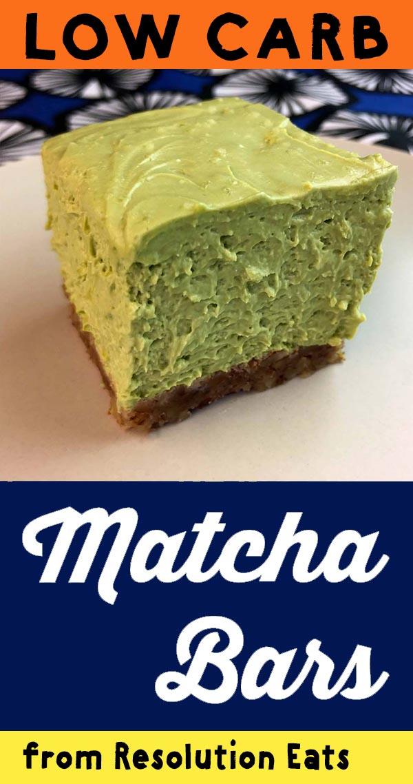 Low Carb Keto Matcha Cheesecake Bar