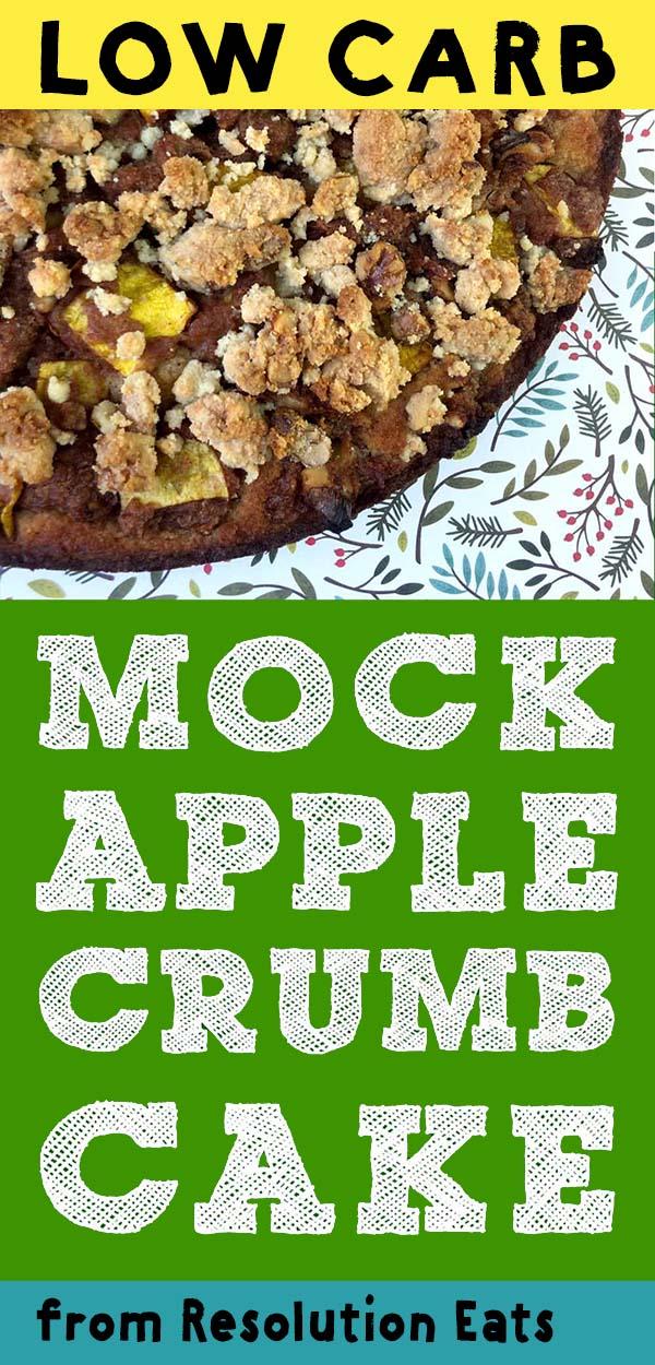 Low Carb Keto Mock Apple Crumb Cake Recipe