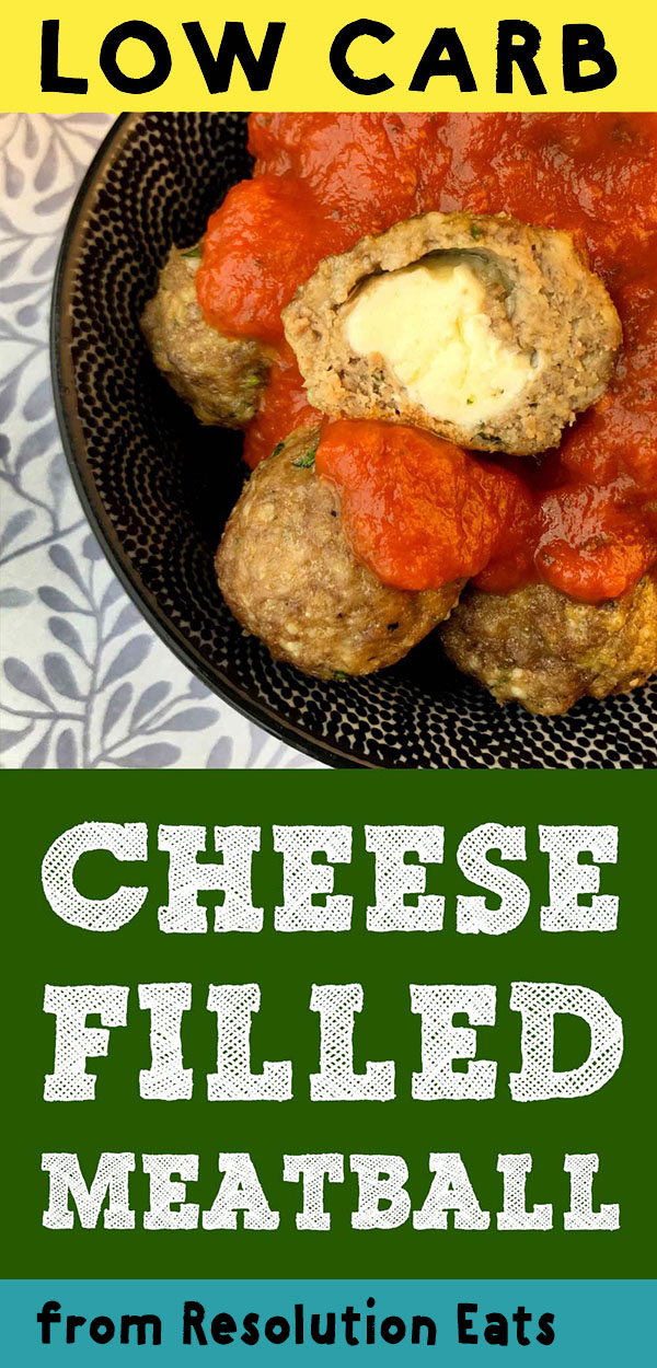 Low Carb Keto Cheese Filled Meatballs Recipe