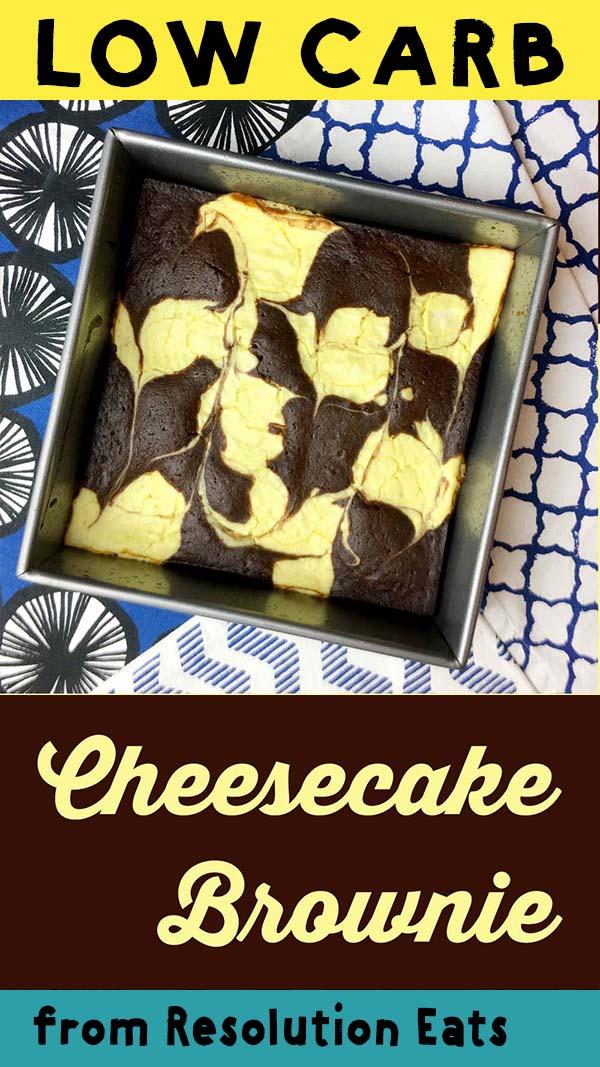 Low Carb Keto Cheesecake Brownie Recipe