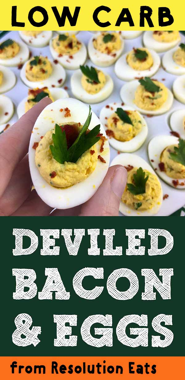 Low Carb Keto Paleo Deviled Eggs Recipe
