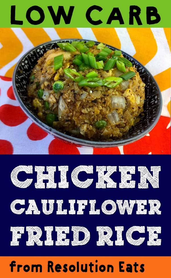 Low Carb Keto Paleo Chicken Cauliflower Fried Rice Recipe