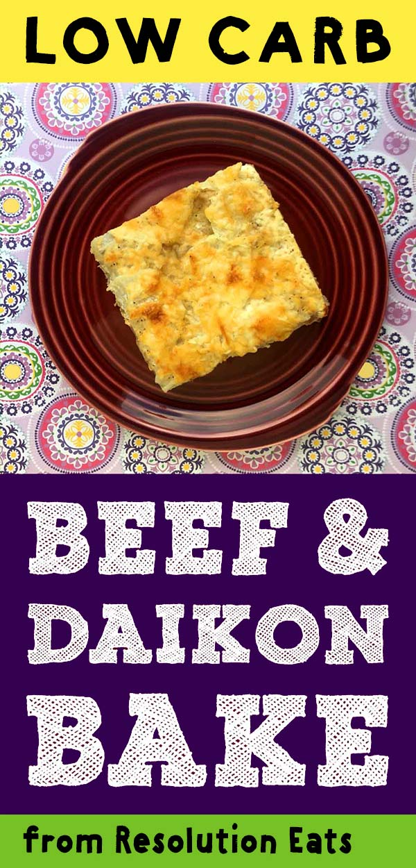 Low Carb Keto Paleo Beef and Daikon Radish Bake Recipe