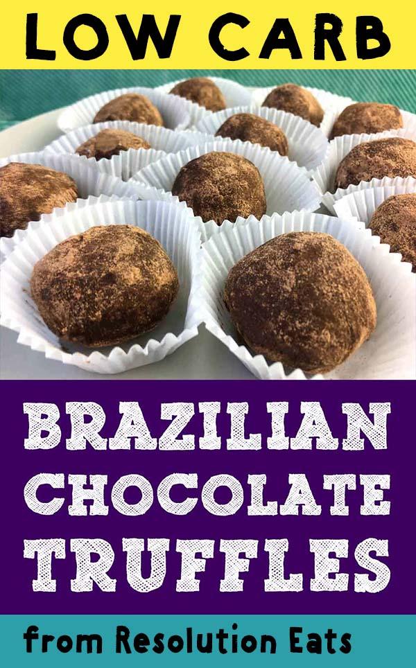 Low Carb Keto Brigadeiro Brazilian Chocolate Truffles Recipe