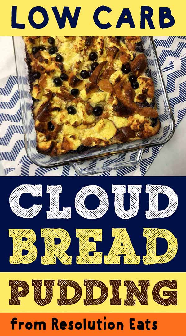 Low Carb Keto Cloud Bread Pudding Recipe