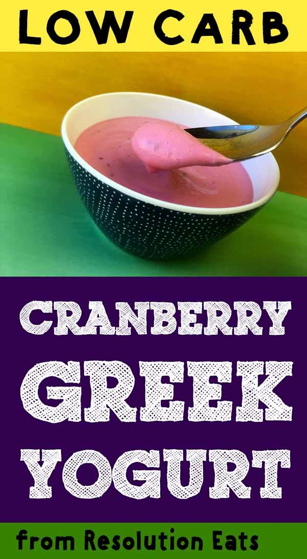 Low Carb Keto Cranberry Yogurt Recipe