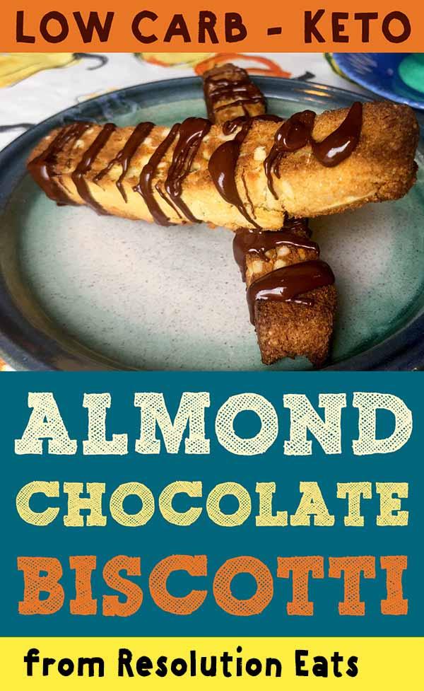 Low Carb Keto Almond Chocolate Biscotti Recipe