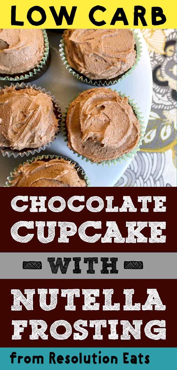 Low Carb Nutella Chocolate Cupcake Recipe