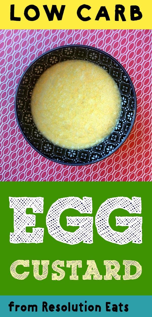 Low Carb Keto Egg Custard Pudding Recipe