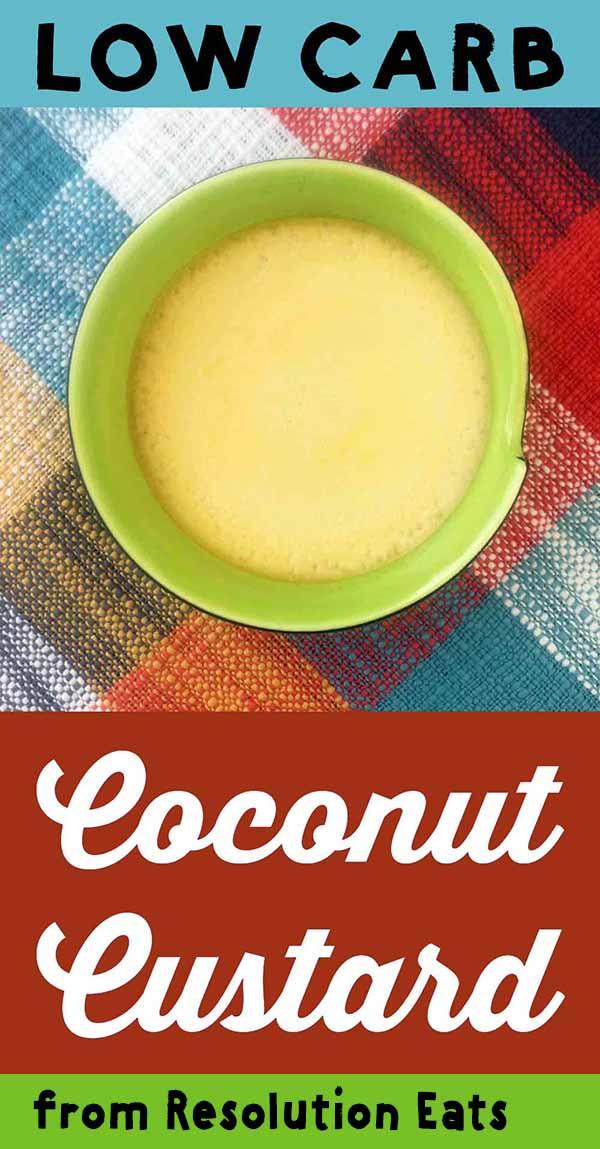 Low Carb Keto Coconut Egg Custard Recipe