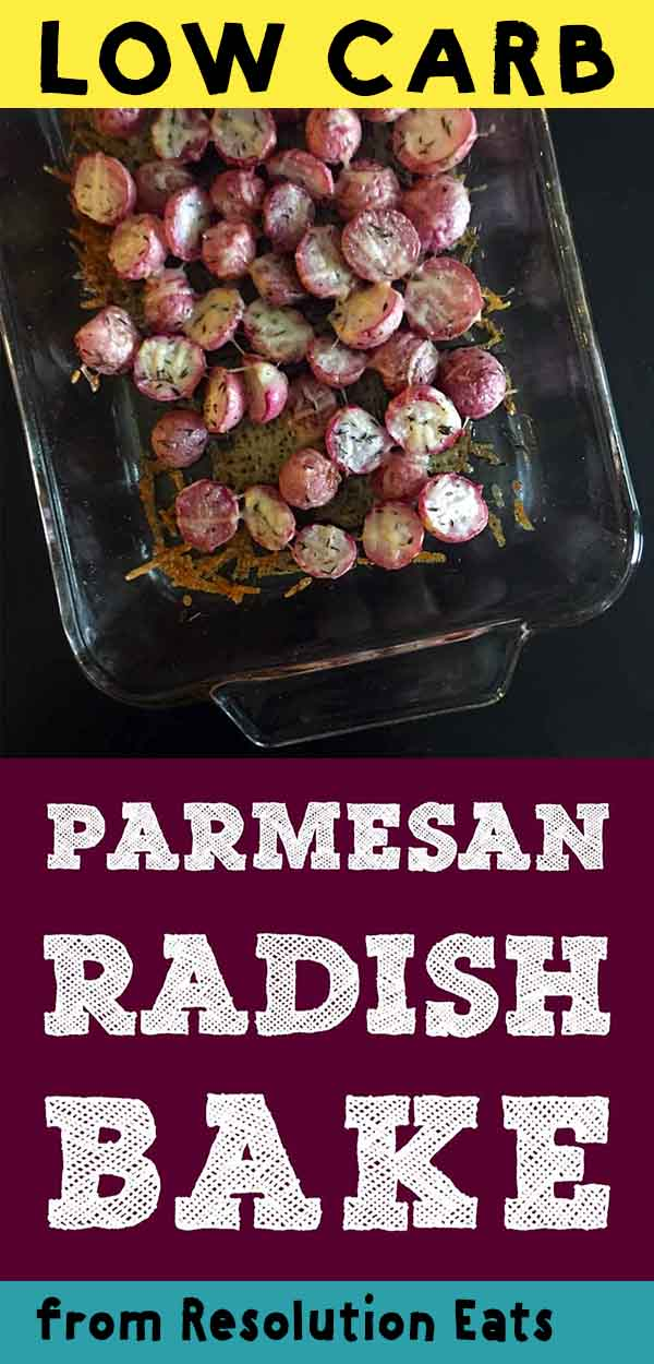 Low Carb Keto Paleo Vegetarian Parmesan Radish Bake