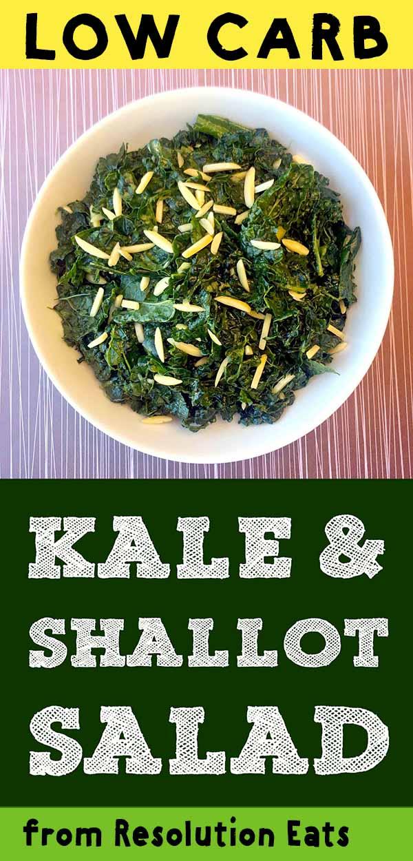 Low Carb Keto Paleo Whole30 Kale Salad Recipe