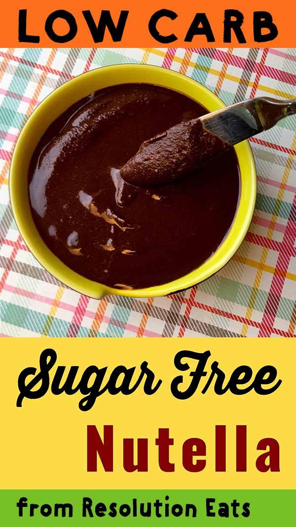 Low Carb Keto Sugar Free Nutella Recipe
