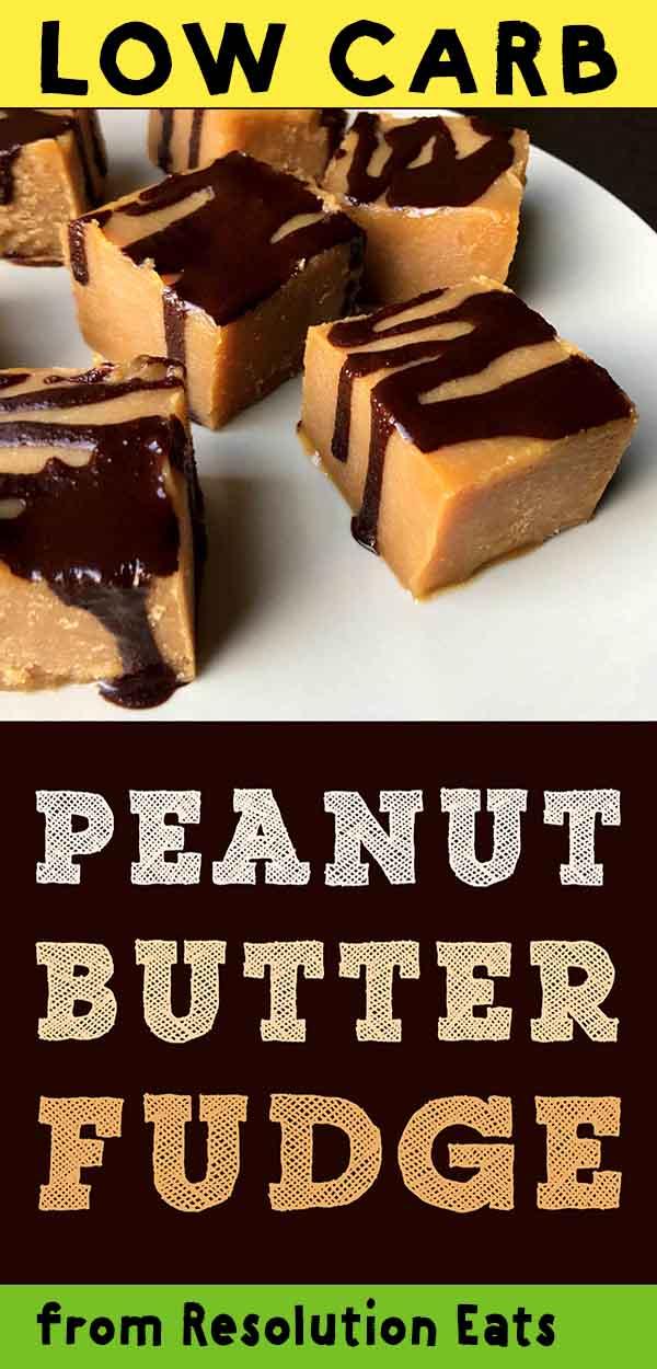 Low Carb Keto Peanut Butter Chocolate Fudge Recipe