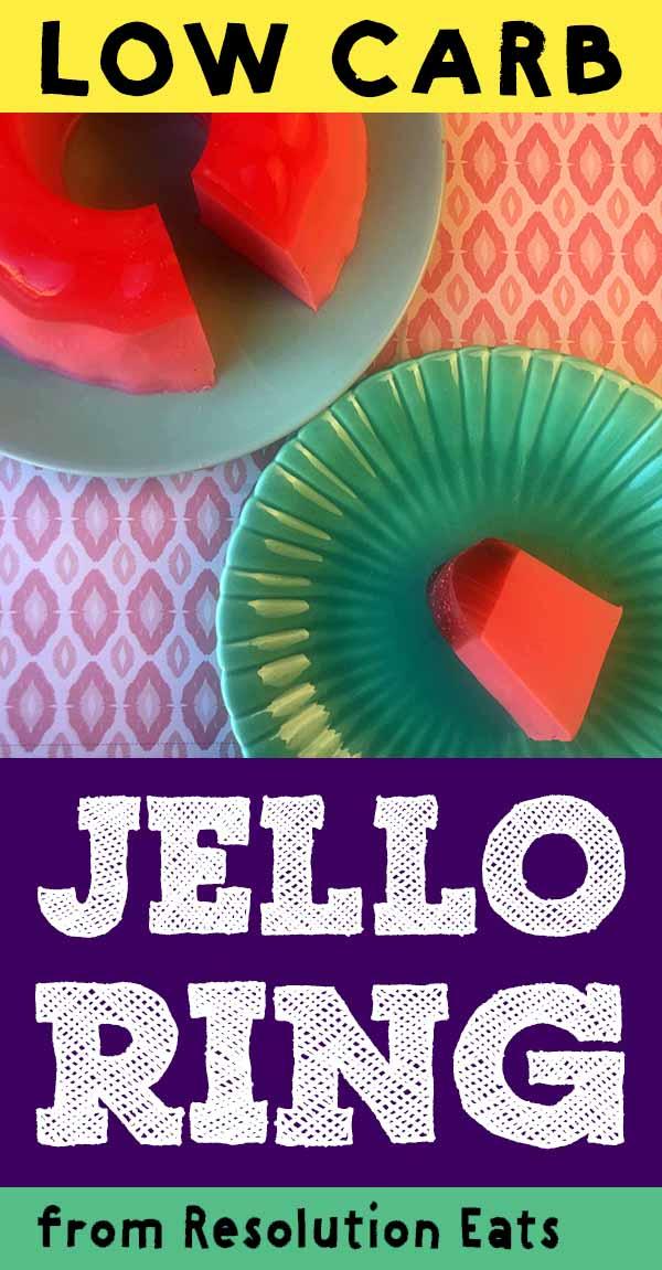 Low Carb Keto Easy Jello Layered Ring Recipe