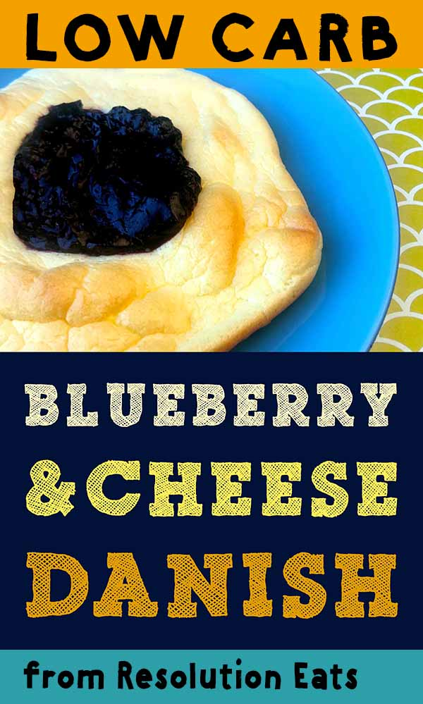 Low Carb Keto Blueberry Cheese Danish Recipe