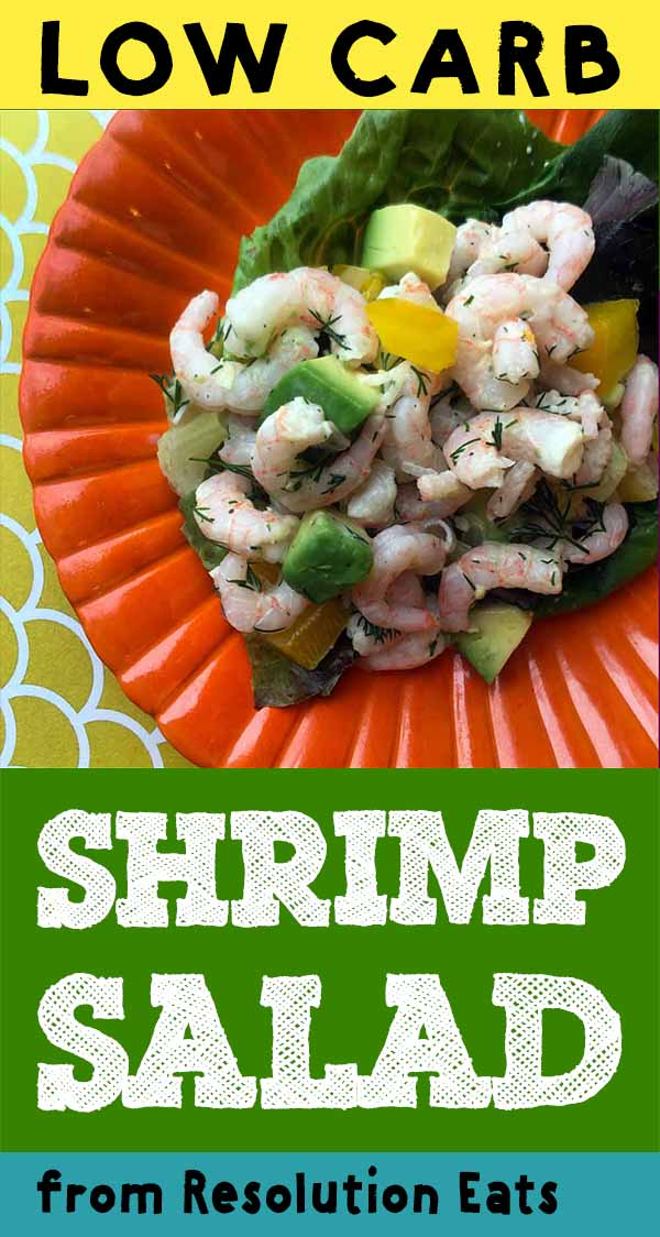 Low Carb Keto Paleo Shrimp and Avocado Salad Recipe